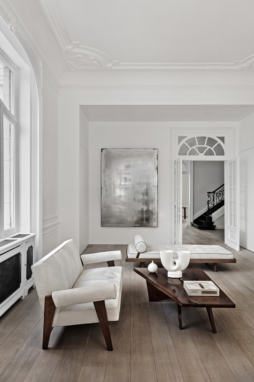 Modern living room, Brussels, Belgium - Olivier Dwek